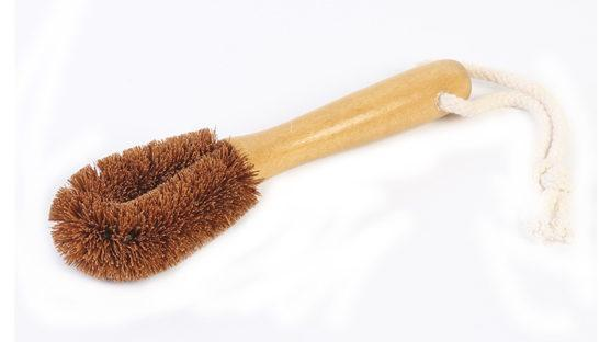 Import Ants Coconut Fibre Veggie Brush with Handle - Hard Home