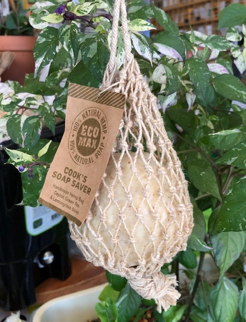 Hand-Rolled Cooks Soap in Hemp Saver Bag, from Eco Max