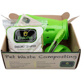 Contents of EnsoPet Pet Waste Composting Starter Kit