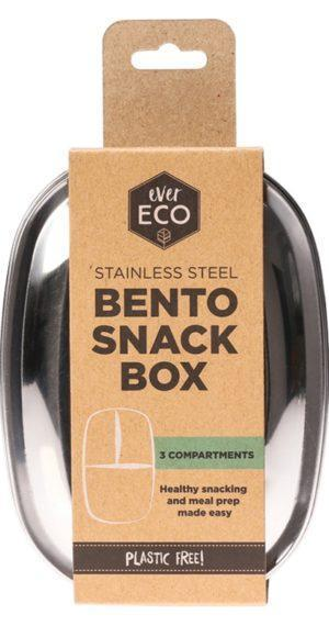 Ever Eco Ever Eco Bento Snack Box - 3 Compartment Eco Home Products, Waste minimisation