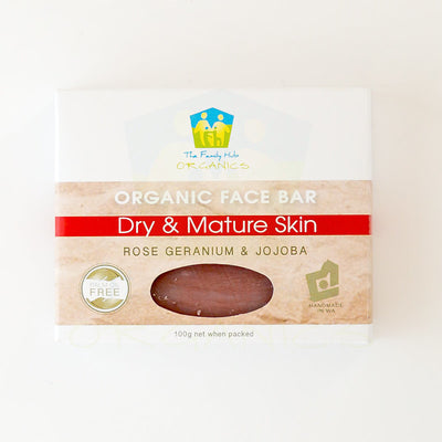 Organic Face Bar - Dry and Mature Skin - The Family Hub