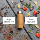Fressko Fressco Rush Bamboo  Vacuum Flask 300ml (10 oz) Home