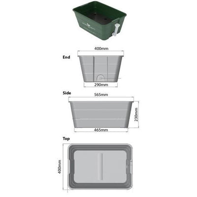 Urban Revolution Australia Herb and Veggie Wicking Pot Starter Kit Garden