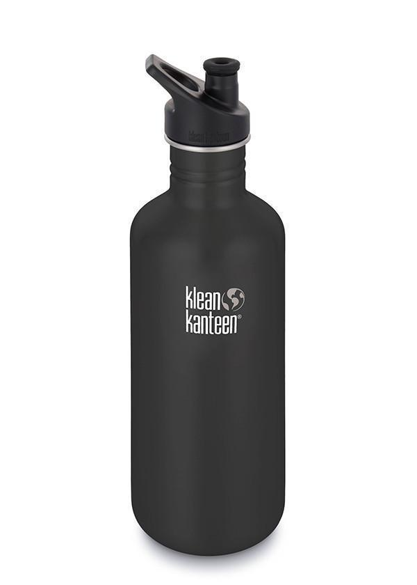 Klean Kanteen Klean Kanteen Classic 1182ml (40Oz) - Sports Cap Drink Bottles Shale Black