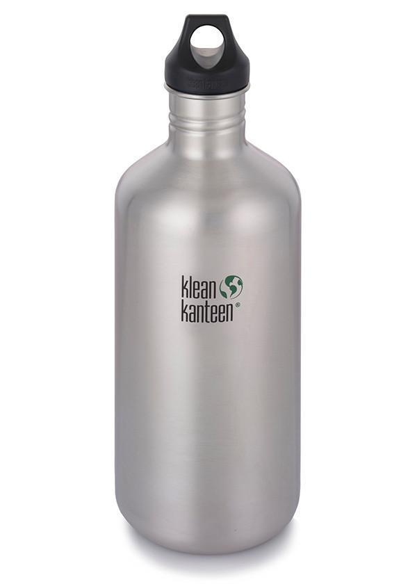 Klean Kanteen Klean Kanteen Classic 1900ml (64Oz) - Loop Cap Drink Bottles Brushed Stainless
