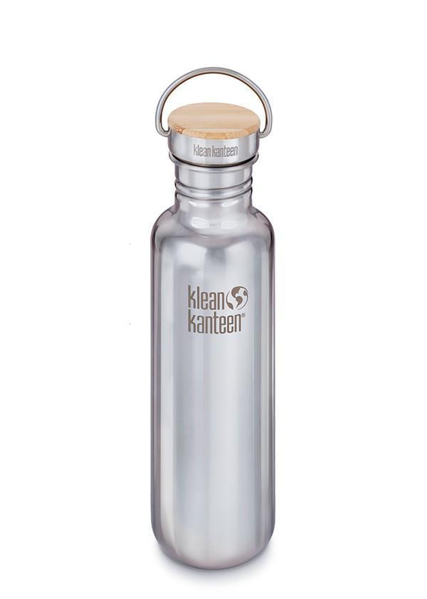 Klean Kanteen Klean Kanteen Classic 800ml (27Oz) - Reflect Stainless Bamboo Cap Drink Bottles