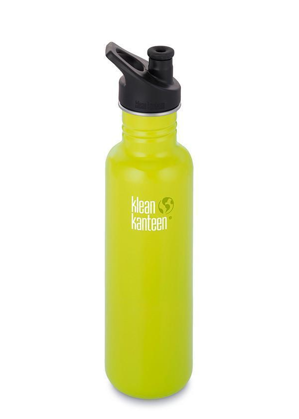 Klean Kanteen Classic 800ml (27Oz) - Sports Cap Drink Bottles Lime Pop