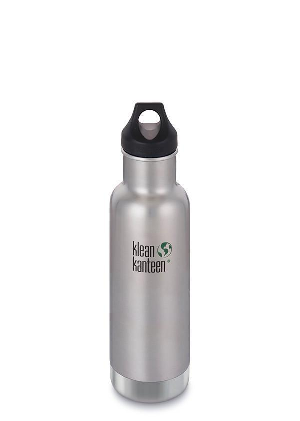 Klean Kanteen Klean Kanteen Insulate Classic 592ml (20Oz) - Loop Cap Drink Bottles Brushed Stainless