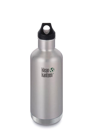 Klean Kanteen Klean Kanteen Insulate Classic 946ml (32Oz) - Loop Cap Drink Bottles Brushed Stainless