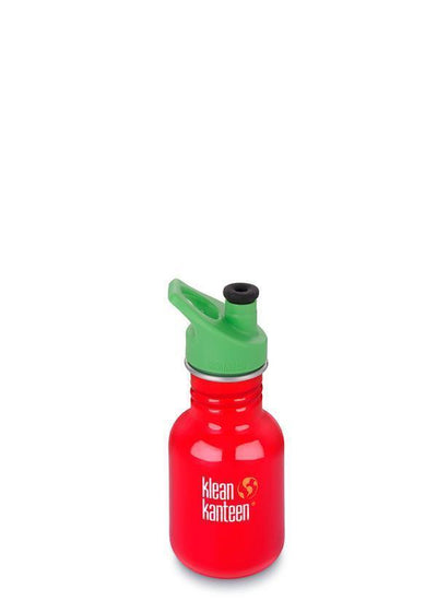 Klean Kanteen Kid Classic 355ml (12Oz) - Sports Cap Drink Bottles Farmhouse Red