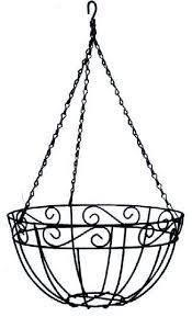 Ryset Metal Hanging Basket with Coir Liner - 400mm Garden