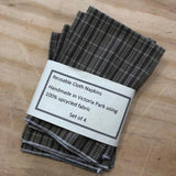 Reusable Cloth Table Napkins from PaulaW, in the Tartan Design