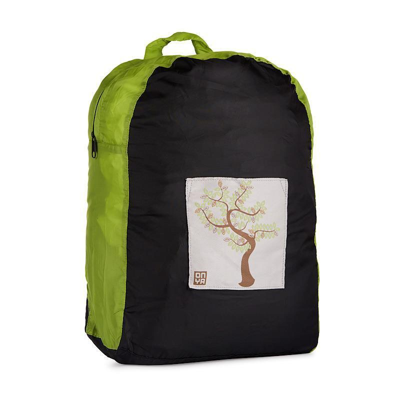 Onya Backpacks - Black & Apple / Tree
