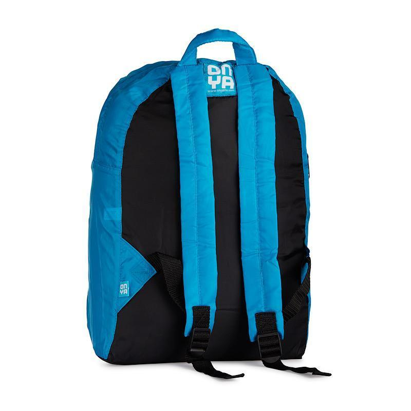 Onya Backpacks - Black & Turquoise / Kookaburra (Back)