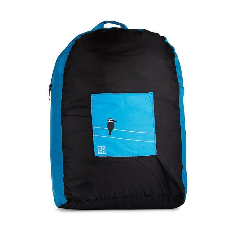 Onya Backpacks - Black & Turquoise / Kookaburra