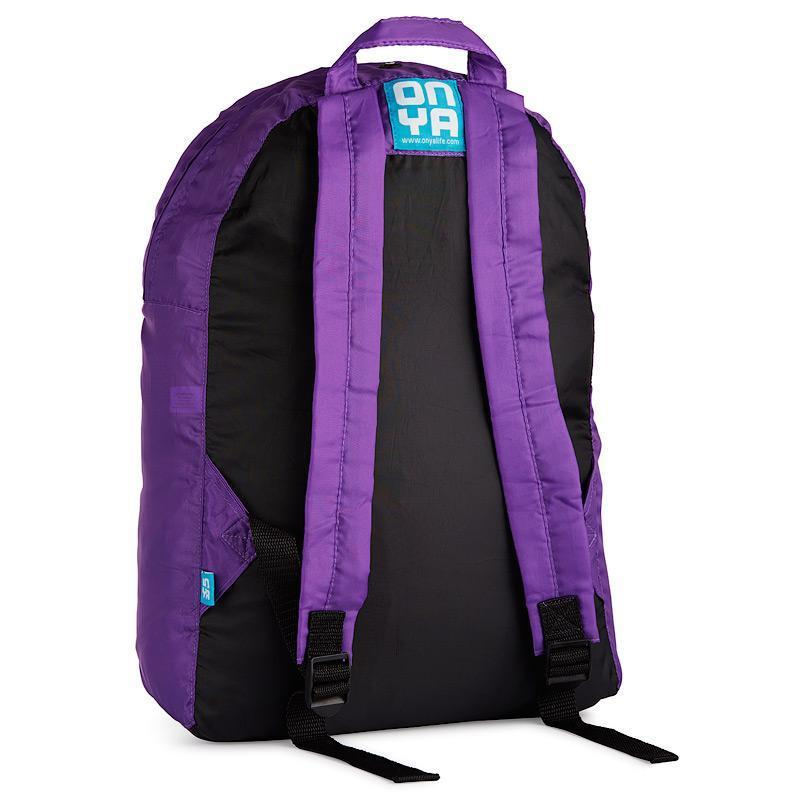 Onya Backpacks - Black & Purple / Sunset (Back)