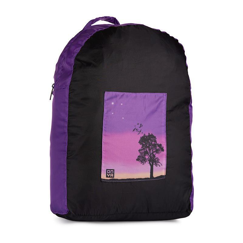 Onya Backpacks - Black & Purple / Sunset