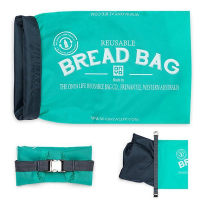 Onya Onya Bread Bags Kitchen Aqua
