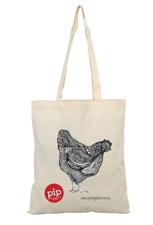 PIP Magazine Pip Permaculture Tote Bag Shopping Bags Chicken
