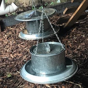5 Litre Galvanised Steel Poultry Waterer