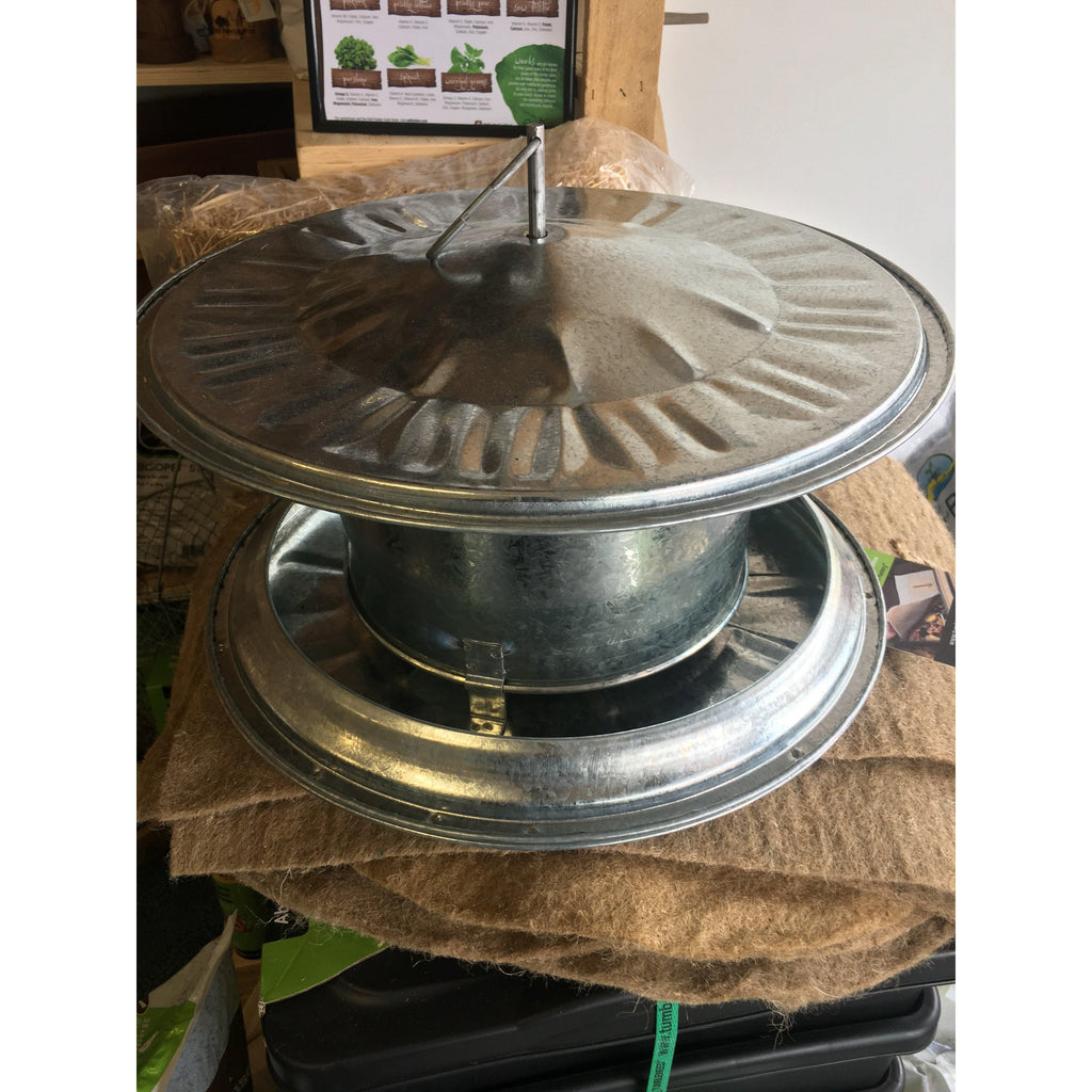 5 Litre Galvanised Steel Poultry Feeder