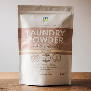 Laundry Powder 100% Natural - 2.5kg - The Family Hub Lemon