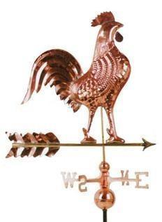 Ryset Rooster Weather Vane - Pressed Copper Garden