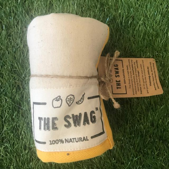 A Rolled Produce Storage Bag (Long) by The Swag, with YellowTrim