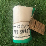 A Rolled Produce Storage Bag (Small) by The Swag, with Green Trim