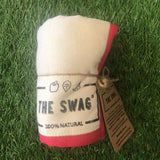 A Rolled Produce Storage Bag (Small) by The Swag, with Red Trim