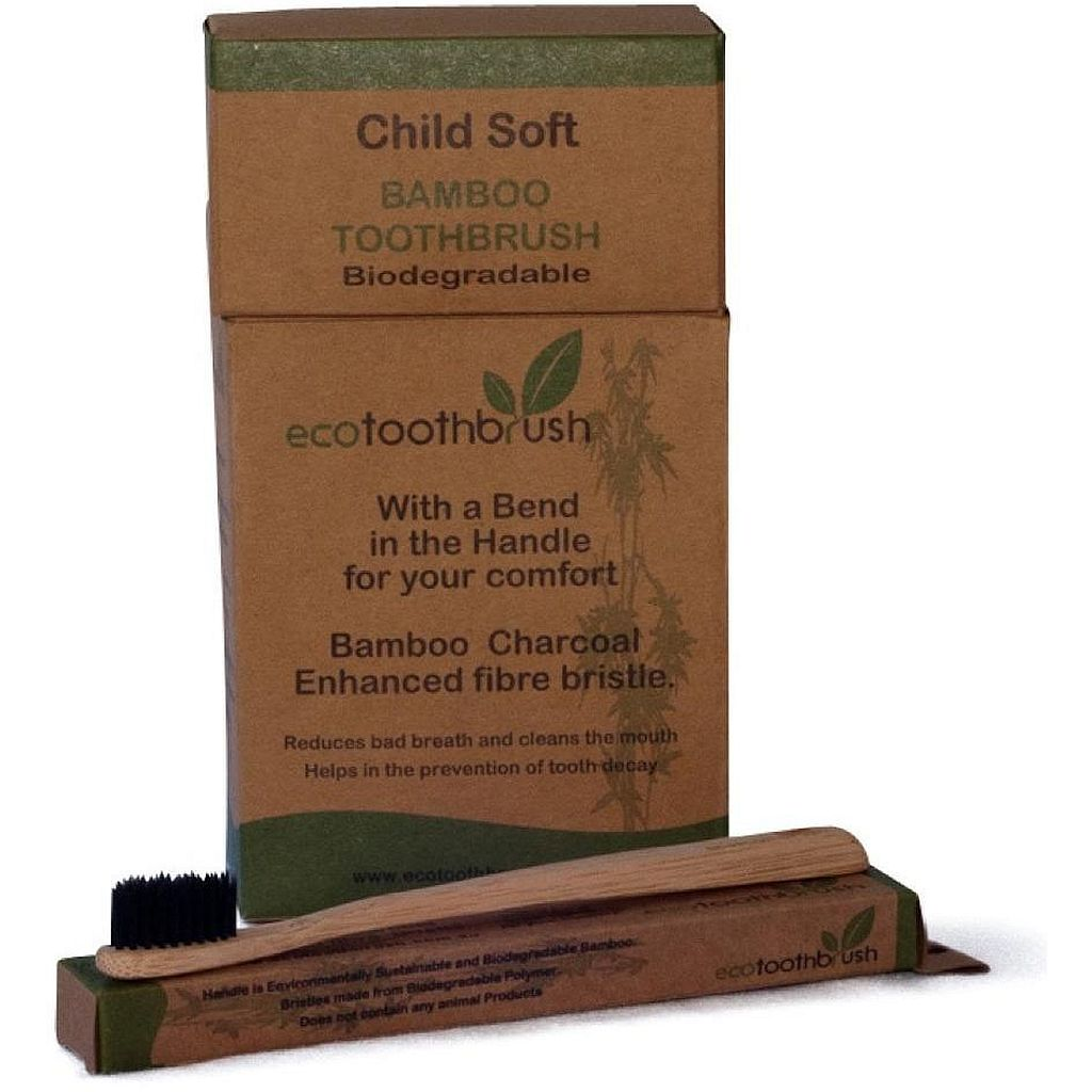 Urban Revolution Australia Toothbrush Charcoal Child - Soft Home Pack of 12