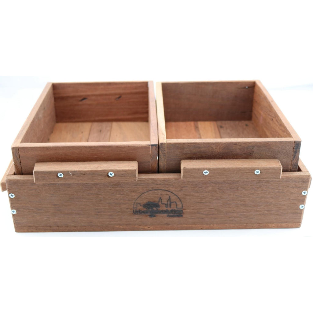 Urban Revolution Australia Wooden Seedling Flat - Jarrah - Vic Park Mens Shed Garden Set of 3