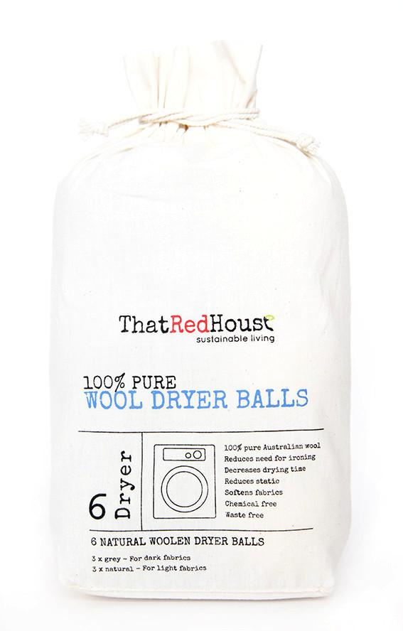 100% Pure Wool Dryer Balls - 6 Pack