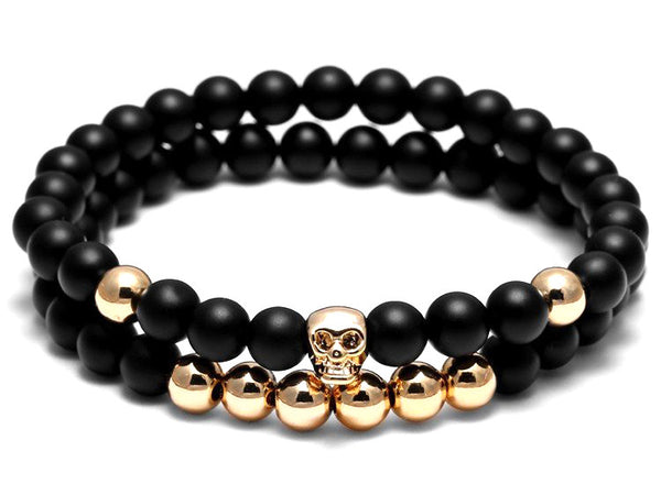 The Black & Gold Bracelet Set
