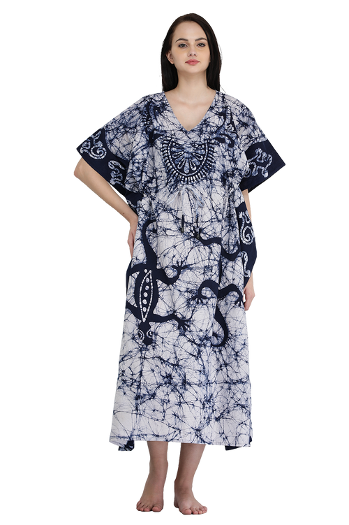 Cotton Batik Long Kaftan