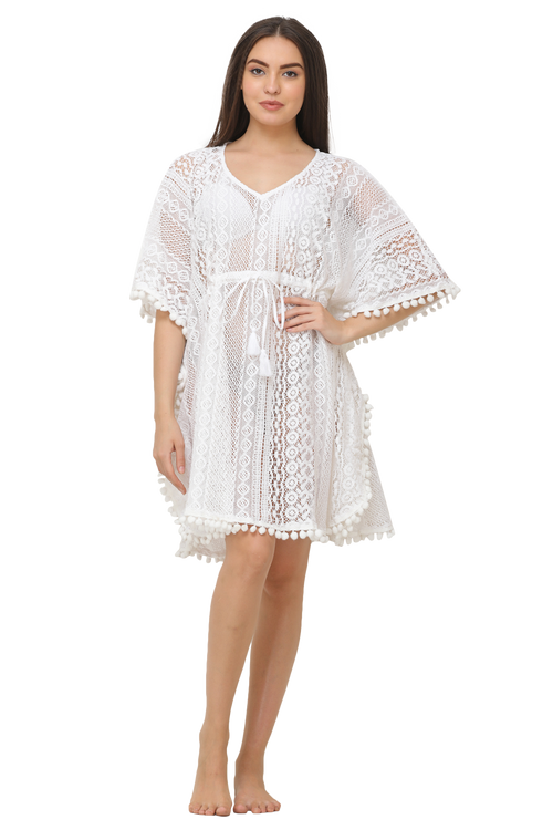 Cotton Net Short Kaftan