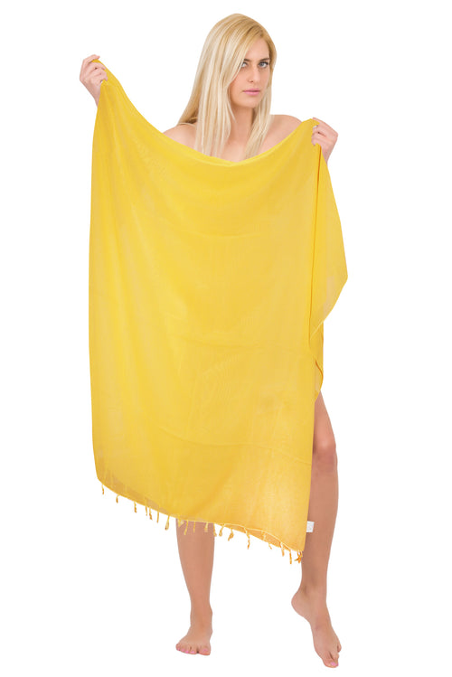 Chiffon Solid Beach Wrap (Sheer)