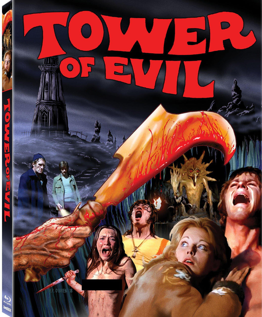Tower of Evil (Blu-ray): Ronin Flix - Slipcover