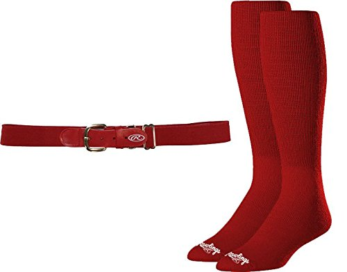 Rawlings Baseball Belt & Sock Combo Red