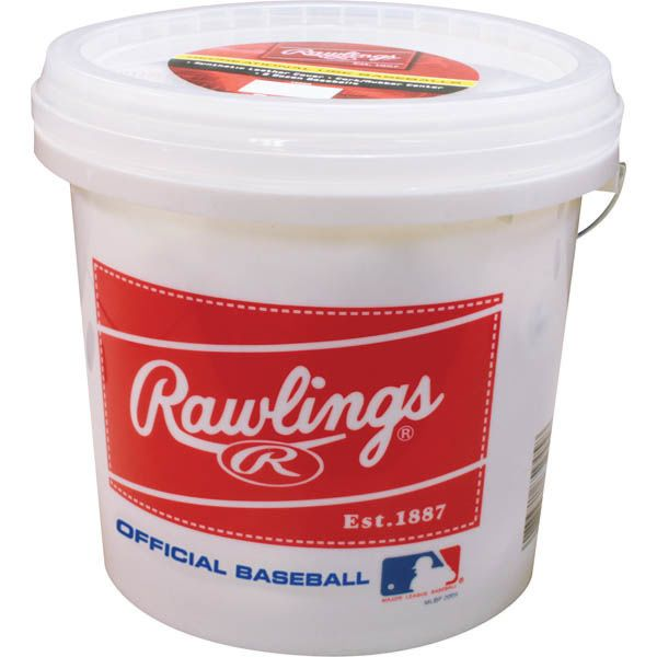 Rawlings R8U Official League Baseballs With Bucket (2 Dozen)