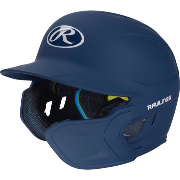 Rawlings Mach One-Tone Navy Matte Helmet with EXT Flap For Right-Handed Batter