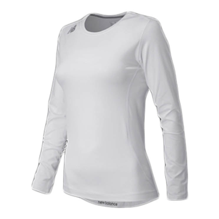NEW BALANCE  Women's Long Sleeve Compression Top WHITE