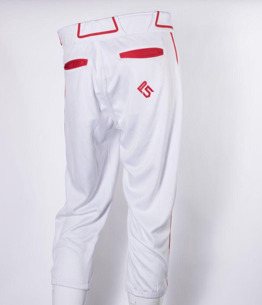 P5 Passe Knicker Style Pant White/Red
