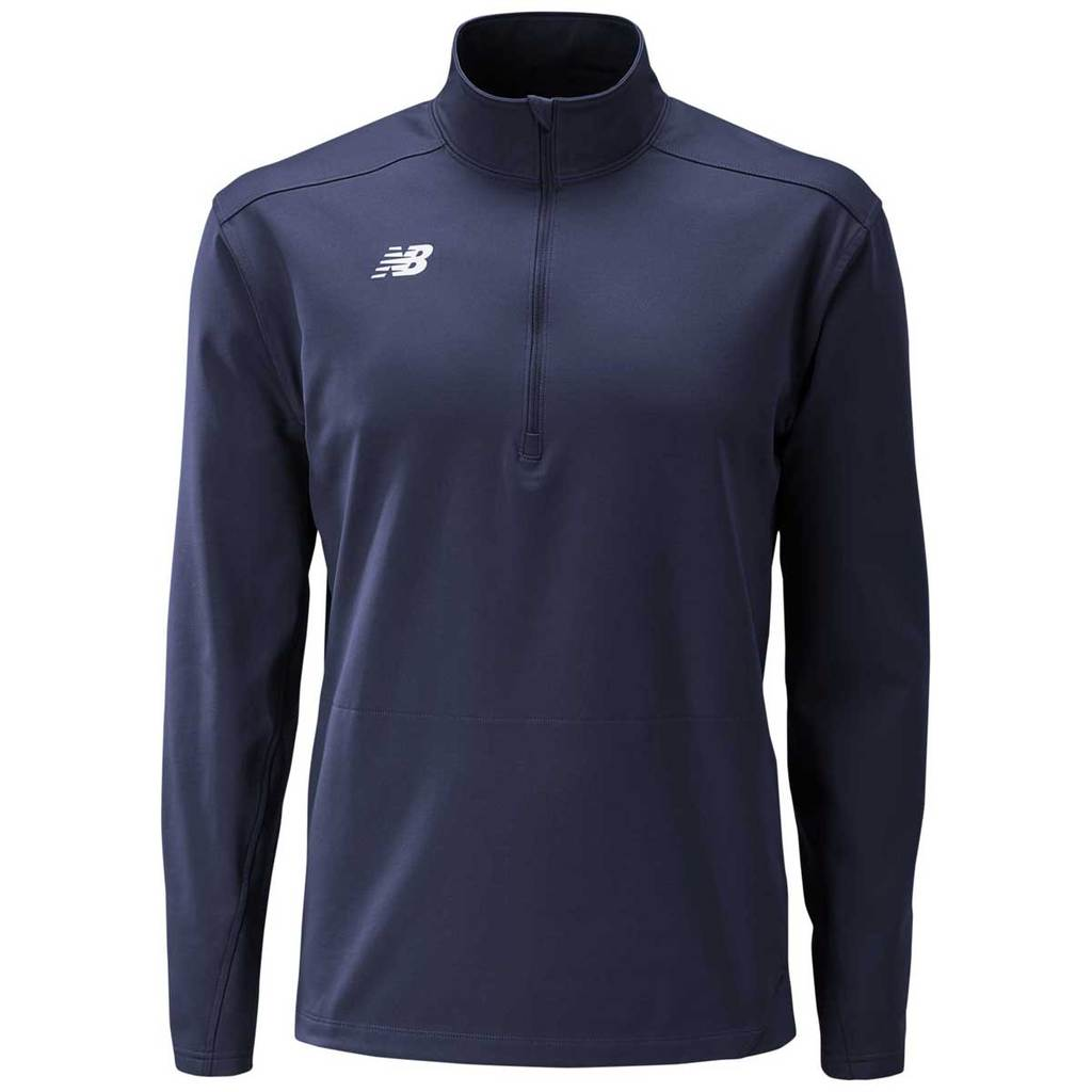 NEW BALANCE LIGHTWEIGHT SOLID HALF ZIP LONG SLEEVE NAVY
