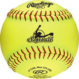 Rawlings Fastpitch Softballs and Bucket, 18 Count, (batting practice