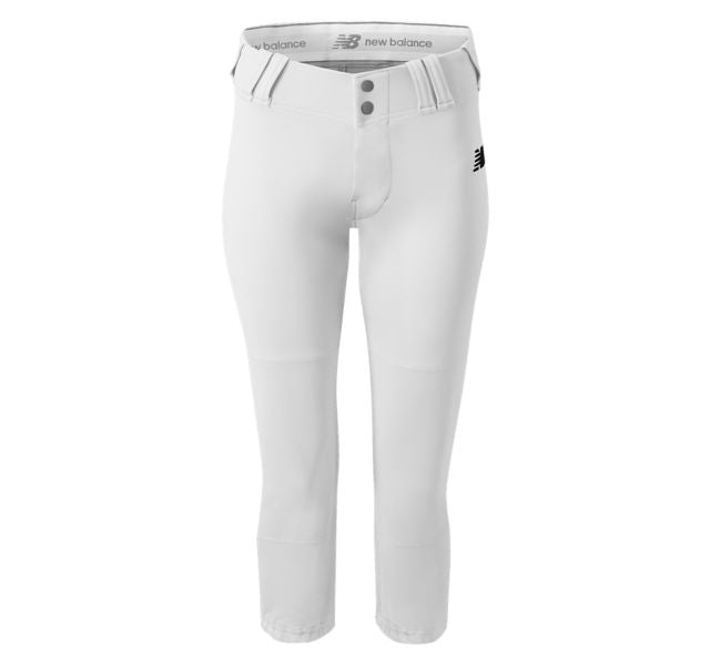 NEW BALANCE GEM YOUTH GIRL'S STOCK FASTPICH PANT WHITE BGP111