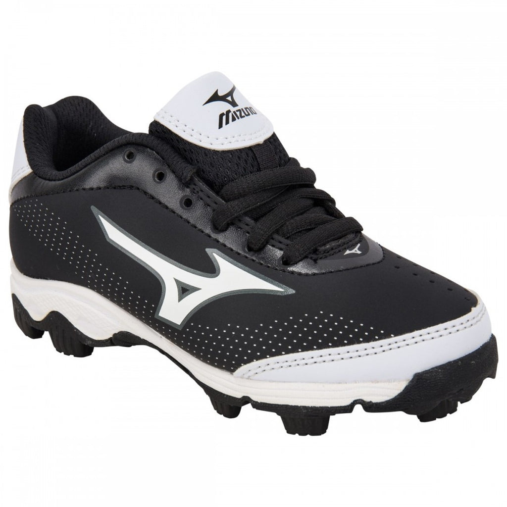 MIZUNO 9-SPIKE FRANCHISE 7 LOW MOLDED BASEBALL CLEATS  Black