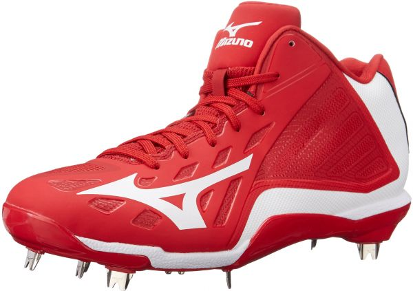 Mizuno Heist IQ Mid Cleat Red/White