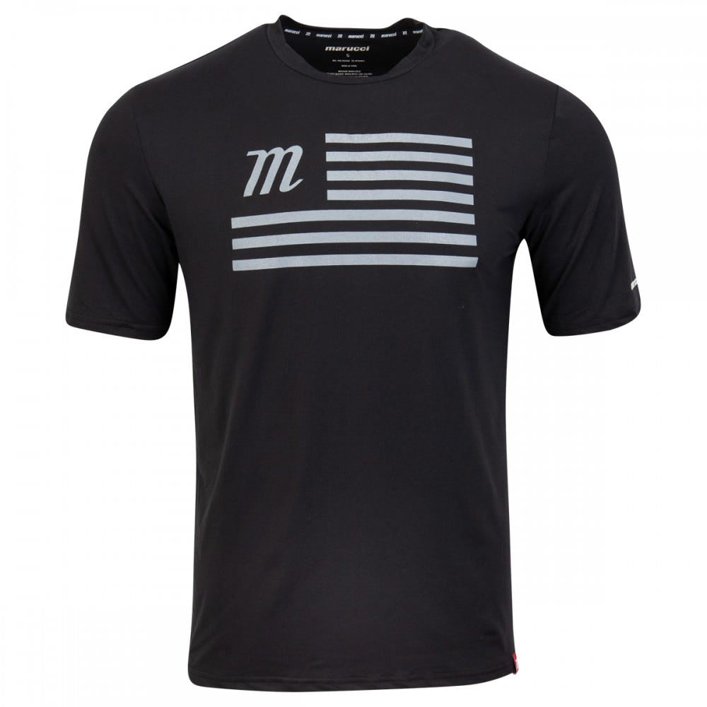 Marucci Flag Tee Black/Gray