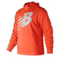 NEW BALANCE Men's Graphic NB CoreFleece Hoodie Orange